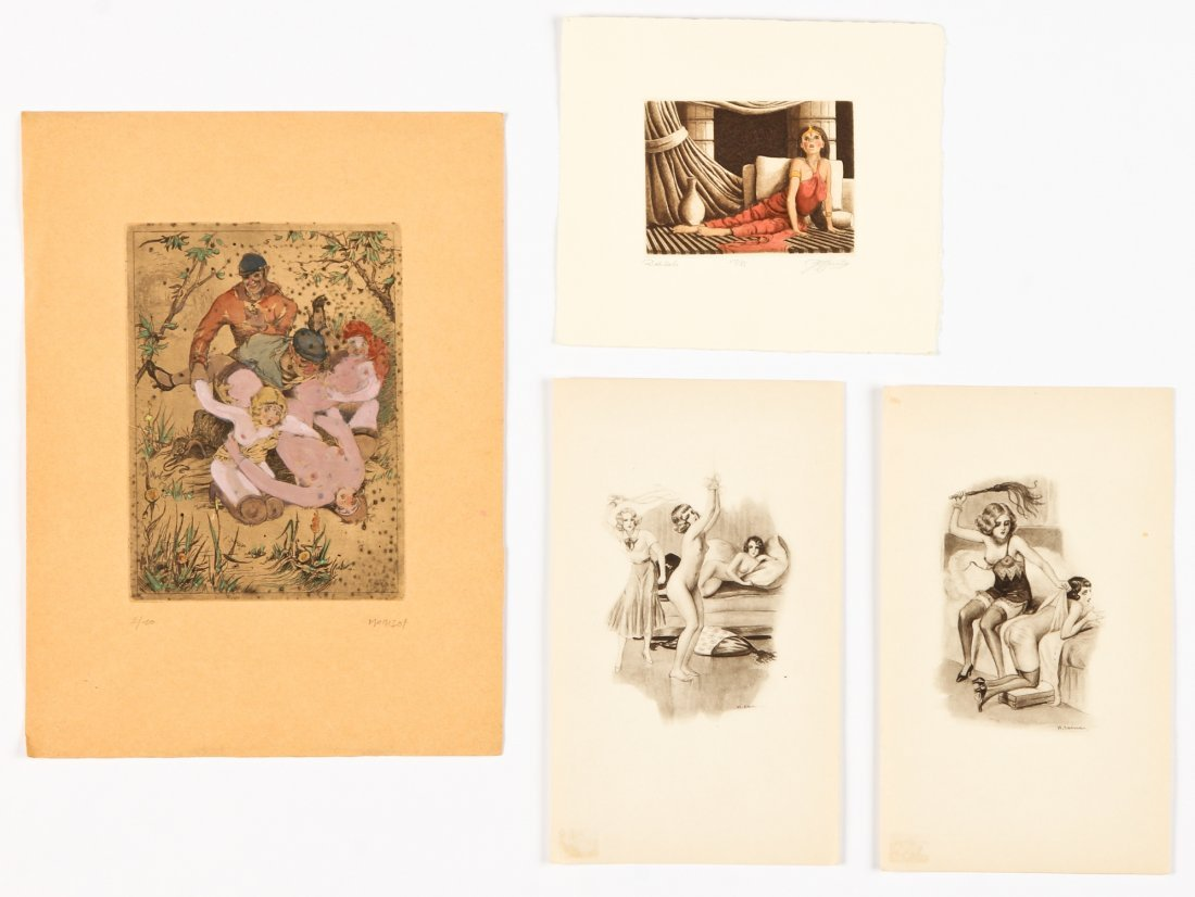 Various Artists (20th c.) Group of 4 Engravings