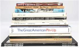 Group of Books Including Erotica Nudes PinUp Art