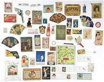 55 Piece Collection of Early Color Advertising Ephemera
