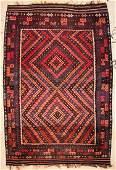 "Large Room-Size Afghan Maimana Kilim: 9'9"" x 14'10"""