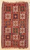 """Antique Caucasian Kuba Kilim: 6'10"""" x 11'6"""" (208 x 351"""