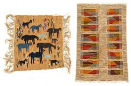 2 North African Folk Tapestry Rugs