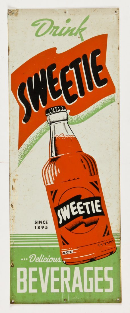 Vintage Drink Sweetie Soft Drink Sign