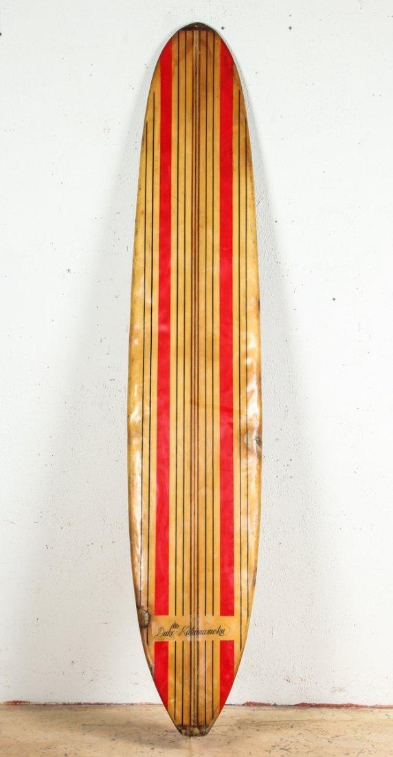 Vintage Duke Kahanamoku Longboard Surfboard