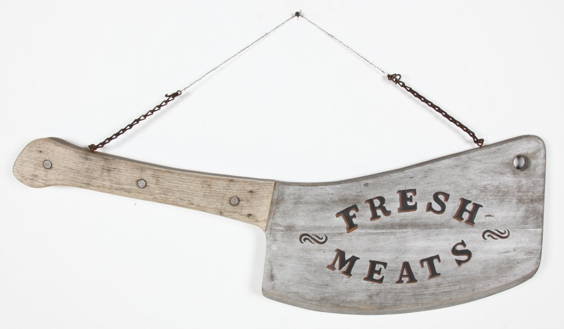 Fresh Meats Hand Painted Trade Sign