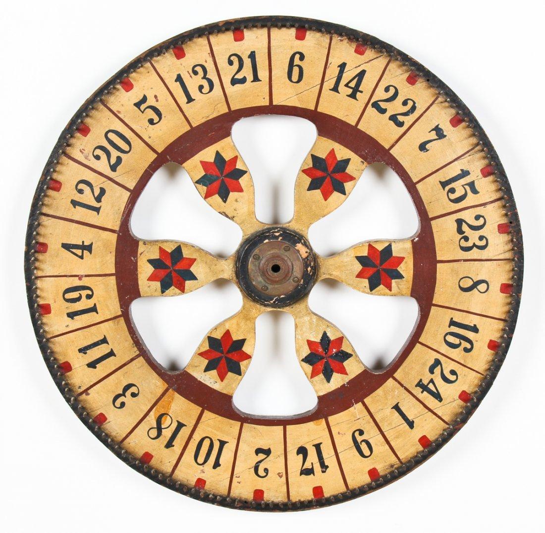 Hand Painted Carnival Gambling Wheel