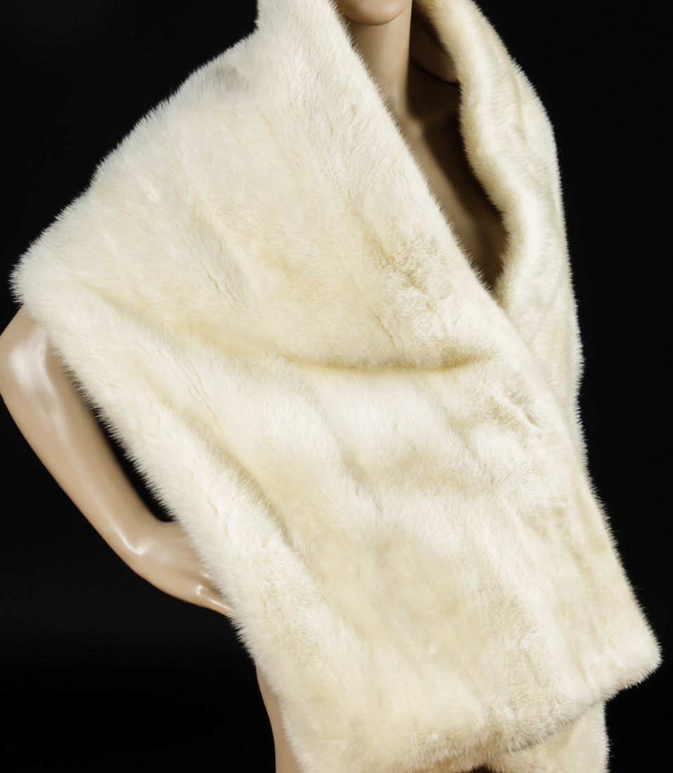 Joan Crawford's Ivory Mink Stole