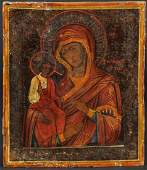 Antique Mother of God of 3 Hands Icon