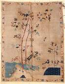 "Antique Chinese Pictorial Rug: 9' x 11'9"" (274 x 358"
