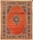 "Antique Sultanabad Rug: 8'6"" x 10'5"" (259 x 318 cm)"