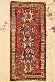 Antique Caucasian Lesghi Rug 44 x 92 132 x 279