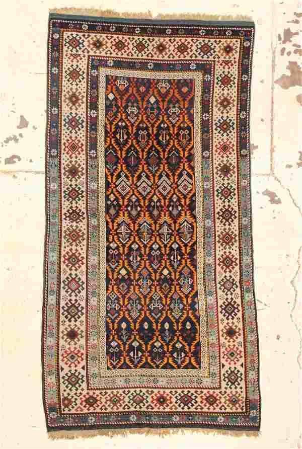 "Antique Kuba Rug: 4' x 7'6"" (122 x 229 cm)"