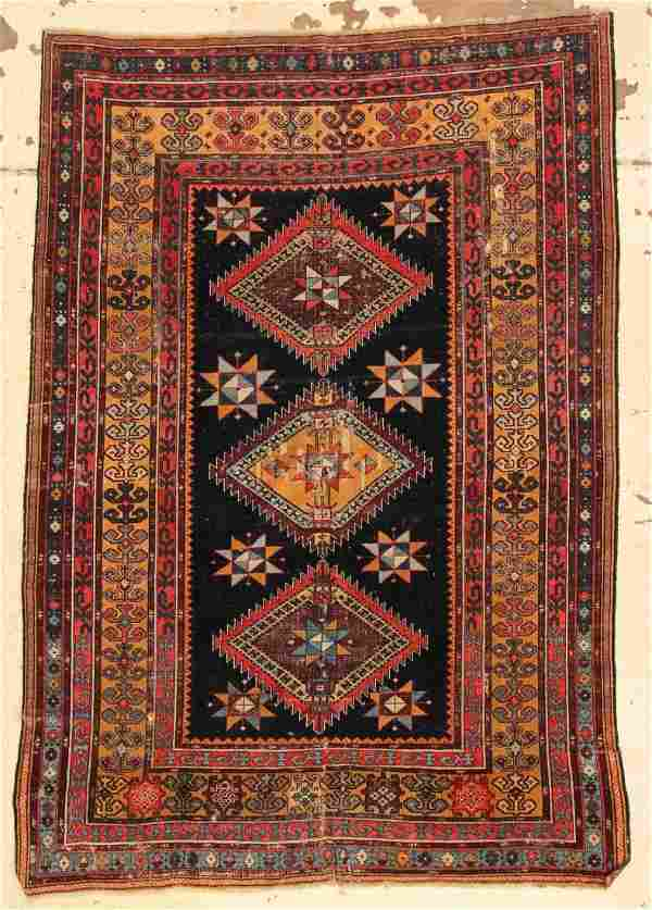 "Antique Kuba Rug: 4'5"" x 6'2"" (135 x 188 cm)"