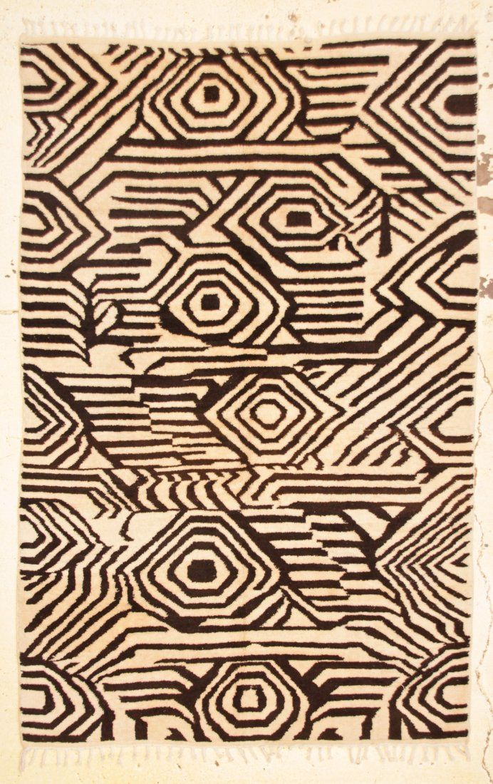 "Modern Moroccan Rug: 6'4"" x 9'9"" (193 x 297 cm)"