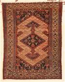 """Camel Field Hamadan Rug: 3'8"""" x 4'9"""" (112 x 145 cm)"""