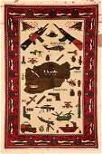 Modern Afghan War Rug 29 x 42 84 x 127 cm