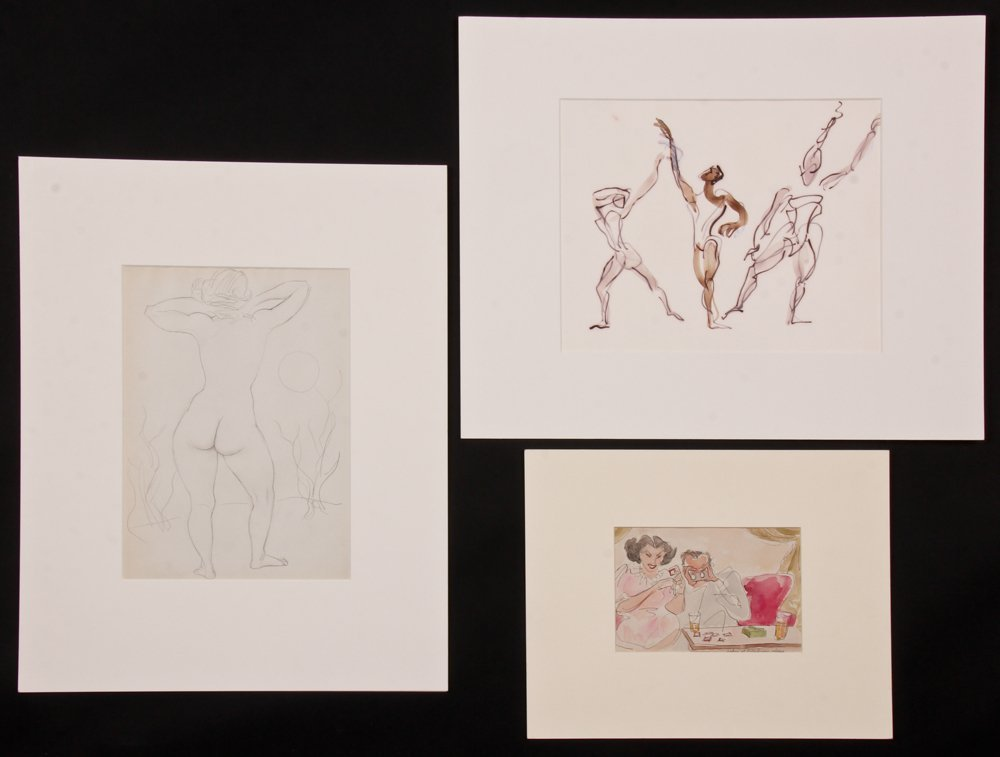 Emlen Pope Etting (American, 1905-1993) Three Works on