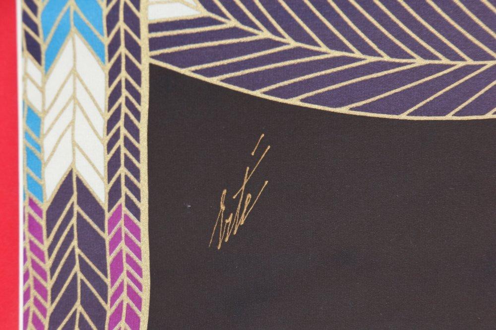 Erte ''The Nile''  Framed Silk Scarf - 2