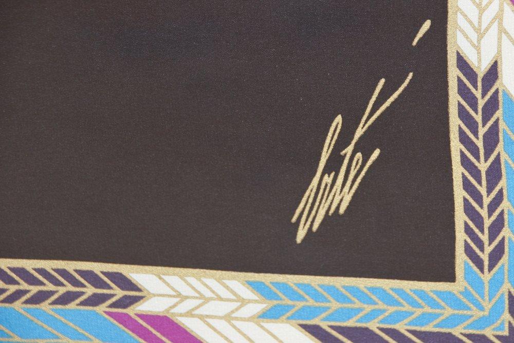 Erte ''The Nile''  Framed Silk Scarf - 3