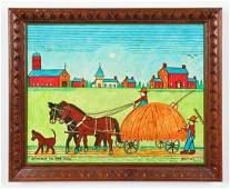 Jack Savitsky (American 1910-1991) Bringing in the Hay,