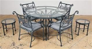 Contemporary Aluminum Garden Table Set