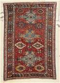 "Antique Caucasian Sumakh Rug: 4'8"" x 6'8"""