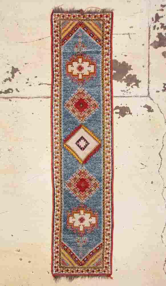 """Vintage Moroccan Rug: 2'3"""" x 9'6"""" (69 x 290 cm)"""
