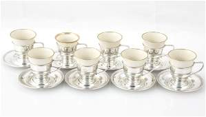 Sterling Silver Coffee Set for 8