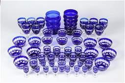 50 pc Vintage Bohemian Cobalt Blue Glass Lot
