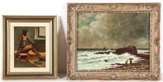 Two American School 20th c Paintings