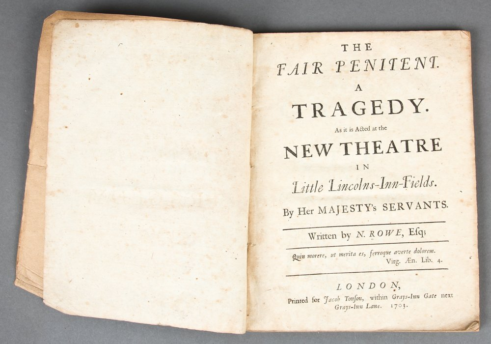 Nicholas Rowe, The Fair Penitent, 1703