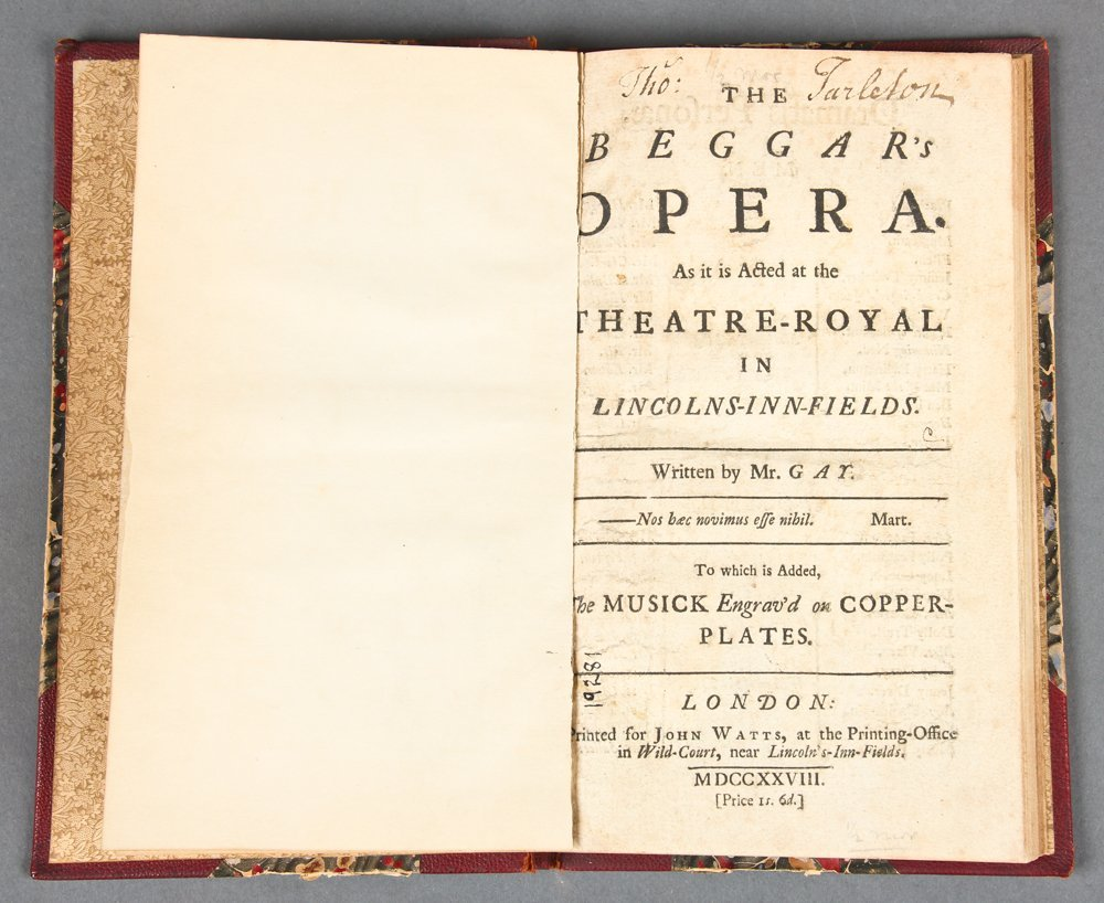 John Gay, The Beggar's Opera, 1728