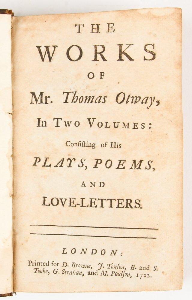 The Works of Mr. Thomas Otway, 1722