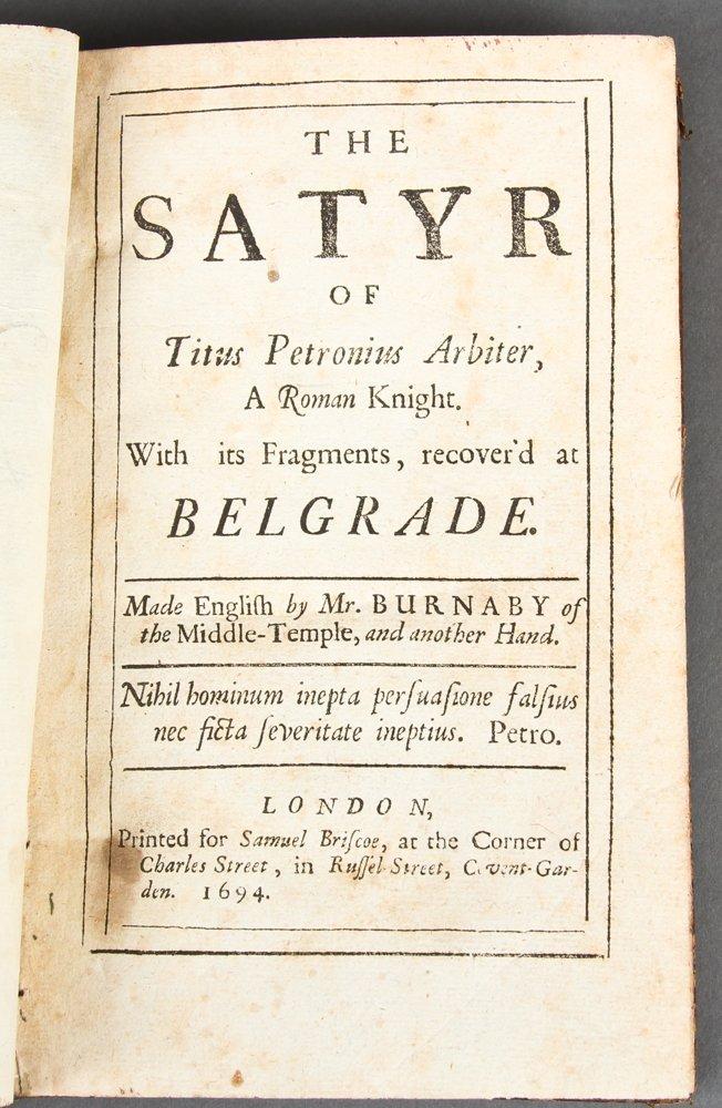 The Satyr of Titus Petronius Arbiter, 1694