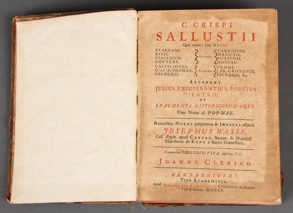 C. Crispi Sallustii (opera) Quae Extant
