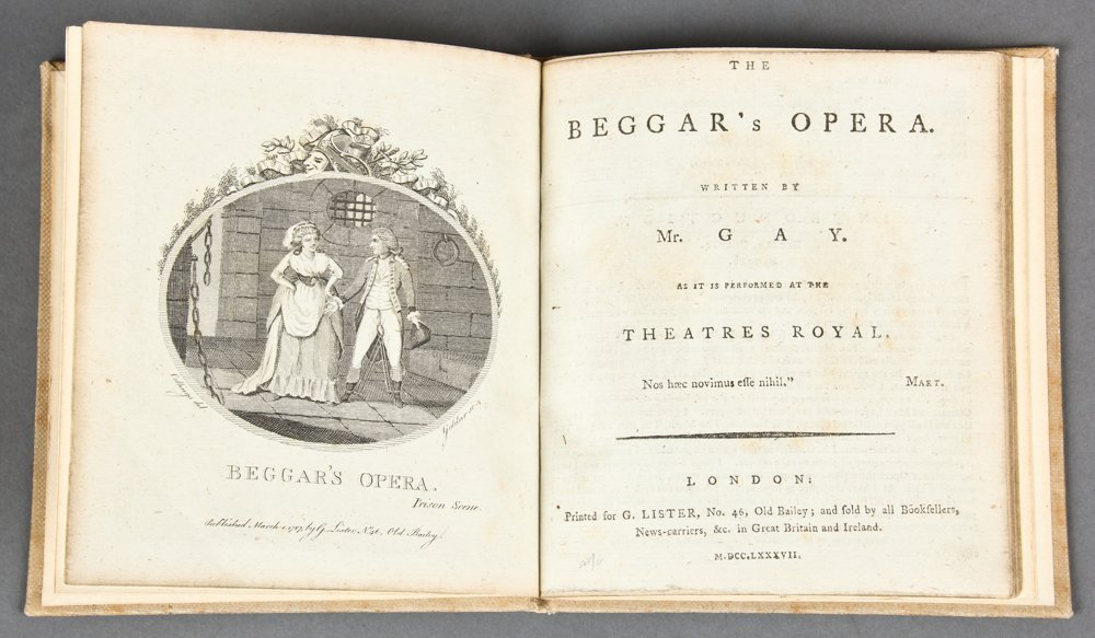 John Gay, The Beggar's Opera, 1787