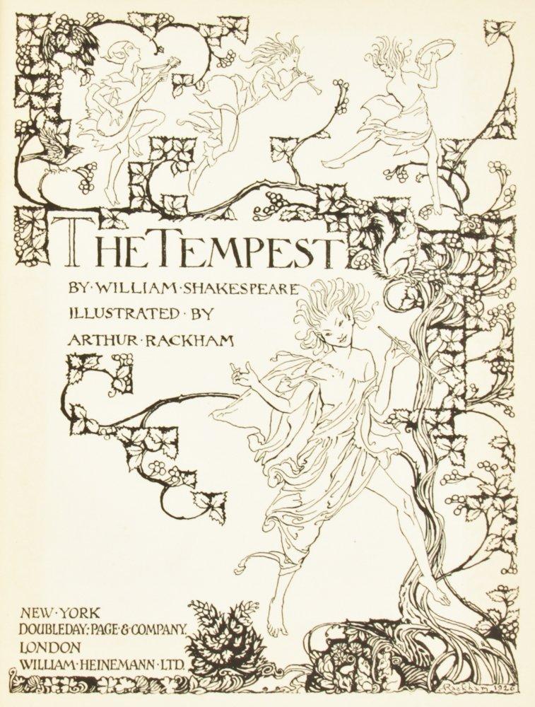 Arthur Rackham Illustrated Shakespeare's The Tempest