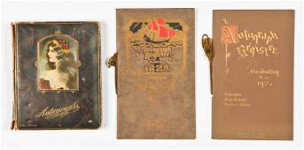 Group of 3 Early 20th c. Autograph Books