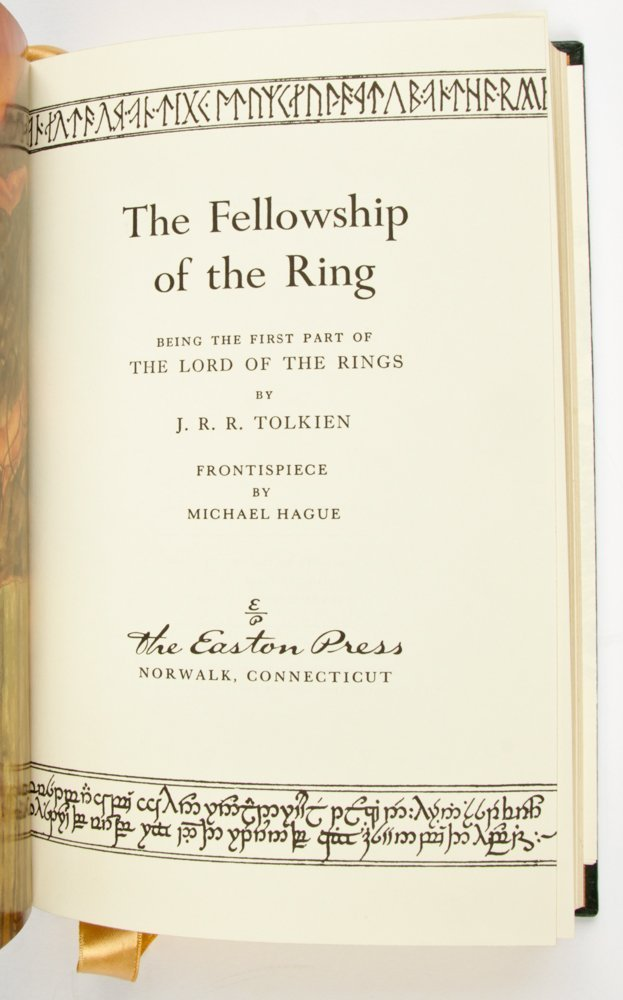 Easton Press JRR Tolkien Lord of The Rings Trilogy with - 6