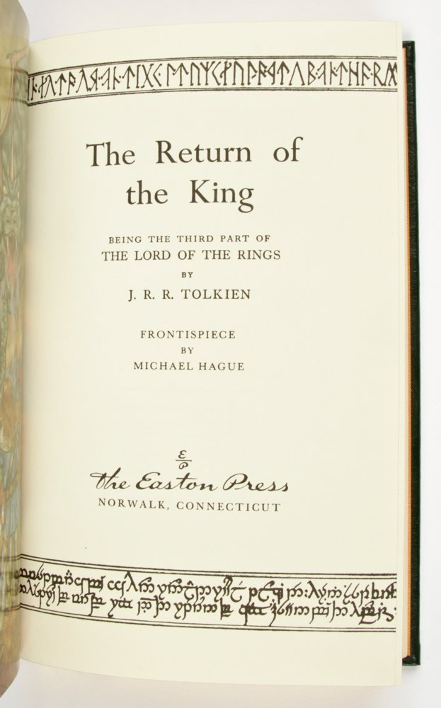 Easton Press JRR Tolkien Lord of The Rings Trilogy with - 8