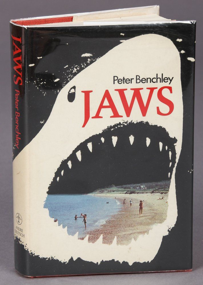 Jaws by Peter Benchley, signed by Wendey Benchley