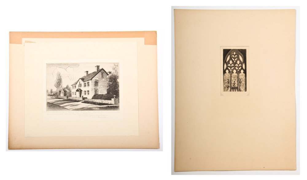 John Taylor Arms (American, 1887-1953) 2 Etchings