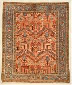 "Antique Heriz Rug: 9'4"" x 11' (284 x 335 cm)"