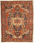 """Antique Serapi Rug: 9'6"""" x 12'4"""" (290 x 376 cm)"""