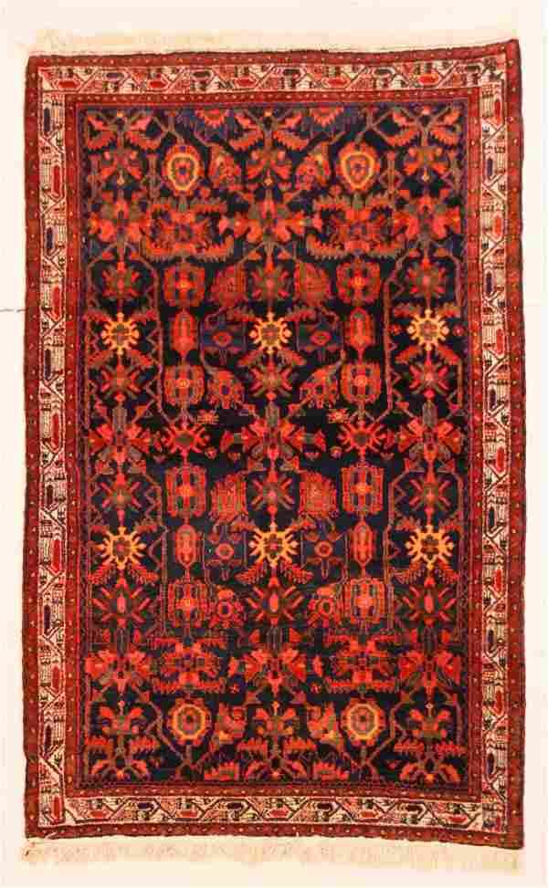 """Antique Hamadan Rug: 4'6"""" x 7' (137 x 213 cm)"""