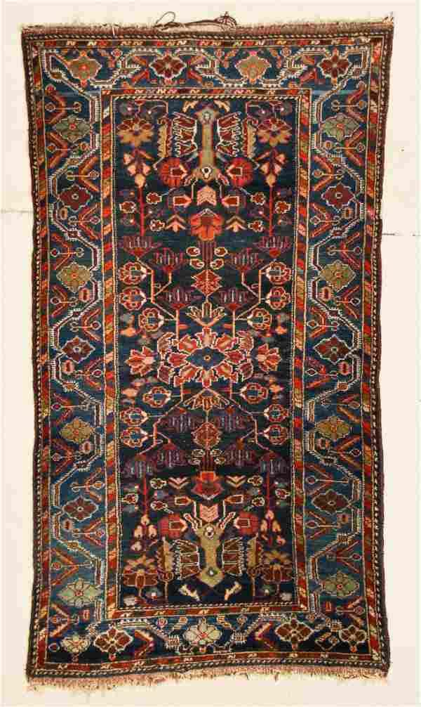 """Antique Hamadan Rug: 3'7"""" x 7' (109 x 213 cm)"""