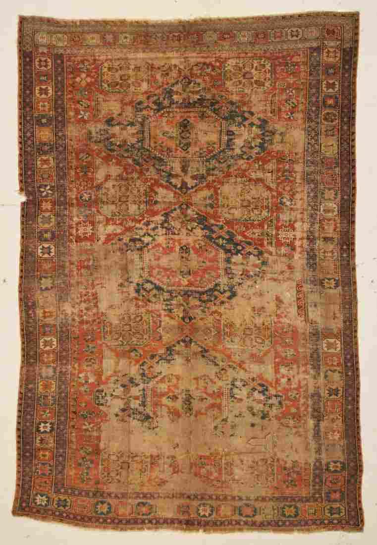 "Antique Caucasian Soumakh Rug: 7'1"" x 10'8"" (216 x 325"