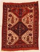"Antique Afshar Rug: 4'3"" x 5' (130 x 152 cm)"