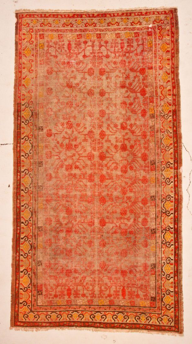 "Antique Khotan Rug: 6'5"" x 12'3"" (196 x 373 cm)"