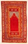 Antique Turkish Prayer Rug 34 x 55 102 x 165 cm
